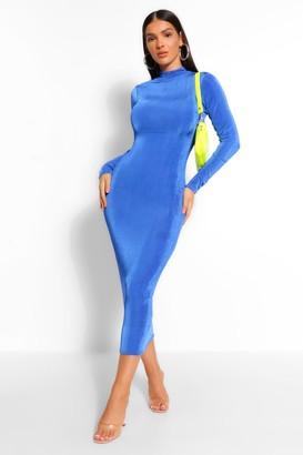 boohoo High Neck Bodycon Midaxi Dress