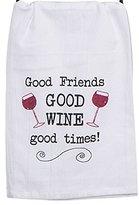 Kay Dee Designs A8548 Good Wine Krinkle Flour Sack Towel with Glitter Dye