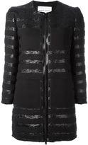 Sonia Rykiel tween zipped coat - women - Cotton/Acrylic/Polyester/Cupro - 40