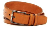 Mezlan Etched Piping Inlay Leather Belt