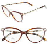 Burberry 52mm Plaid Temple Optical Glasses