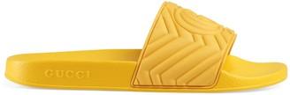 Gucci Men's matelasse rubber slide