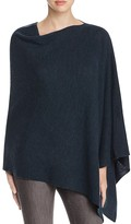 Eileen Fisher Asymmetric Merino Wool Poncho