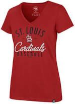 '47 Women's St. Louis Cardinals Ultra Rival Metallic Script T-Shirt