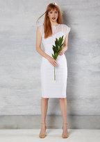 Stop Staring Film Noir Fatale Sheath Dress in White in 4X