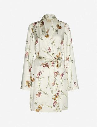 Myla Clifton Gardens floral-print stretch-silk gown