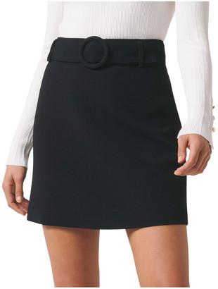 Forever New Anabelle Belted Crepe Mini Skirt