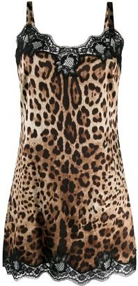 Dolce & Gabbana leopard print stretch camisole