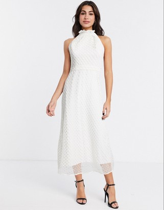Stevie May midsummer midi dress in white