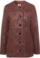 Topshop Cracked-leather Jacket