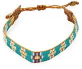 Chan Luu Bangle Beaded Leather Bracelet