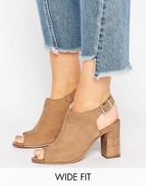 Asos ELDER Wide Fit Peep Toe Shoe Boots