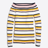 J.Crew Factory Striped off-the-shoulder sweater