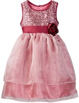 Dorissa Heather Organza Dress with Sequin Top (Toddler Girls)
