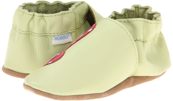 Robeez Butterfly Soft Soles (Infant/Toddler) (Pastel Green) - Footwear
