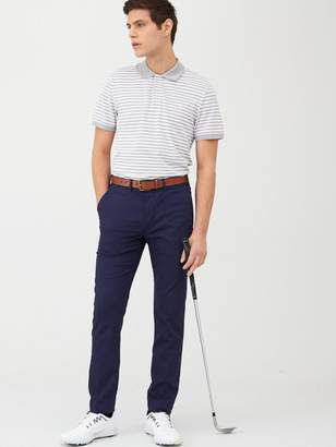 Polo Ralph Lauren Golf Lightweight Striped Stretch Mesh Polo Shirt - Grey/White