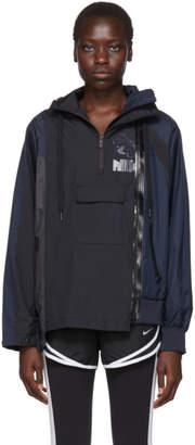 Nike Navy and Black Sacai Edition NRG Ni-01 Hooded Anorak