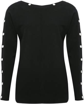 M&Co Eyelet batwing jumper