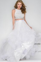 Jovani Long Tulle Two-Piece Prom Ballgown 42893