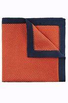 Moss Bros Mens Orange Knitted Pocket Square