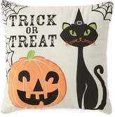 JCP HOME JCPenney HomeTM Trick or Treat Cat Square Decorative Pillow