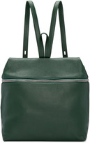 Kara Green Leather Large Backpack