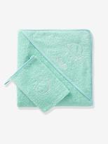Bath Cape & Wash Mitt - white, Furniture & Bedding | Vertbaudet