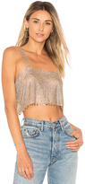 Frasier Sterling After Party Tank in Metallic Gold.