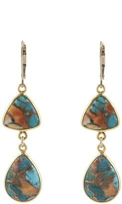 Peggy Li Creations Copper Oyster Turquoise Earrings