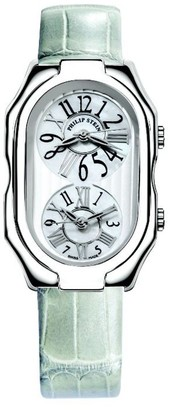 Philip Stein Teslar 11-vmop-aggrLadies WatchAnalogue QuartzMother of Pearl Dial Green Leather Strap