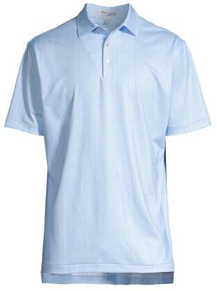 Peter Millar Sasser-Print Jersey Polo Shirt