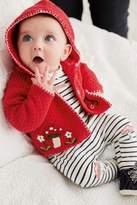 Next Girls Red Embellished Cardigan (0mths-2yrs)