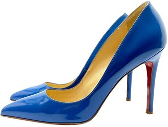 Christian Louboutin Pigalle Blue Patent leather Heels