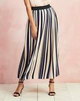 Fashion World Striped Pleat Maxi Length Skirt