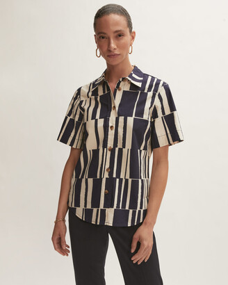 Jigsaw Block Stripe Boxy Shirt