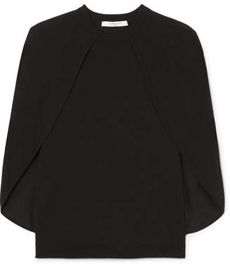 Givenchy Cape-effect Stretch-knit Top - Black
