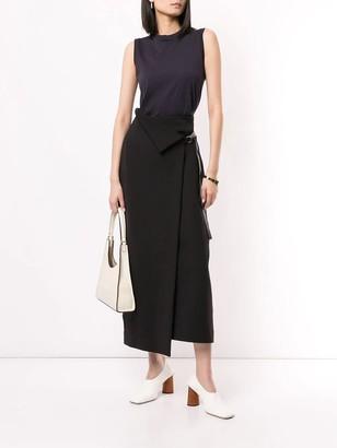 The Row Ogechi Midi Skirt Black