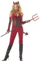 California Costumes Women's She Devil Costume,Red/Black,Medium