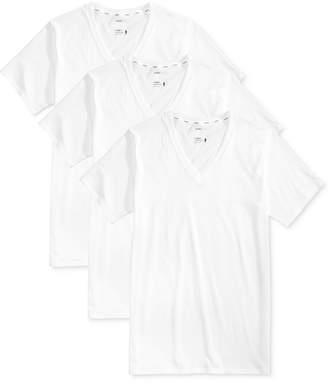 Jockey Men 3 Pack Essential Fit Staycool + V-Neck Cotton Undershirts
