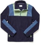 Surfside Supply Color Block Polar Fleece 1/4 Zip Pullover Navy M