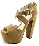 Jessica Simpson Derian Women Open Toe Suede Platform Heel.