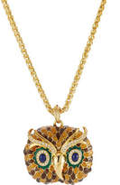 Kenneth Jay Lane Embellished Owl Necklace