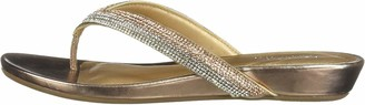 Kenneth Cole Reaction Women Frost Jewel Thong Sandal Flat