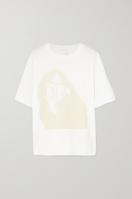 Chloé Oversized Printed Cotton-jersey T-shirt - White