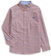 Chaps Tattersall Check Cotton-Blend Button-Down Shirt