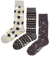 Happy Socks Stormy, Stripes & Flower Socks (3 PK)