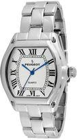 Peugeot Womens Silver-Tone Tonneau Bracelet Watch