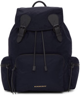 Burberry Navy Large Nylon Rucksack