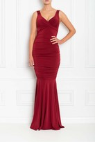 Honor Gold Gabby Berry Fishtail Maxi Dress
