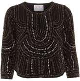 Velvet by Graham & Spencer Tansy Nailhead Embellished, Cropped Statement Jacket